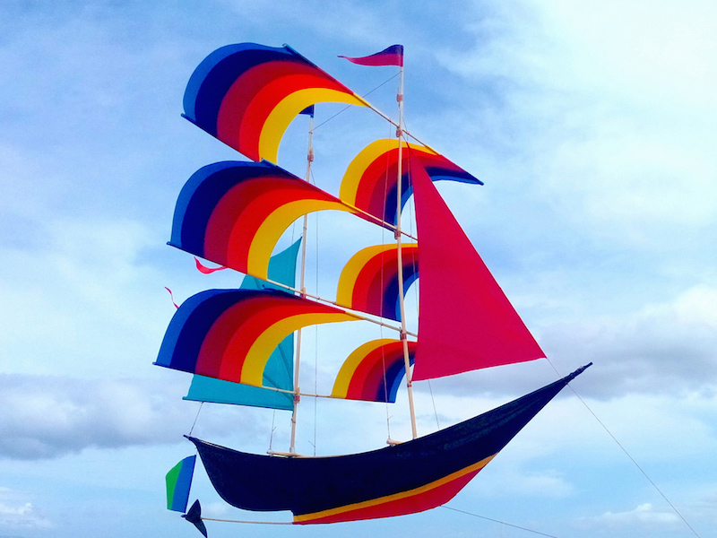 Sailing Ship Kite Flying Kite Boat Kite 3d Kite Boat